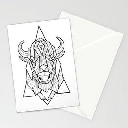 Geometric Buffalo Stationery Cards