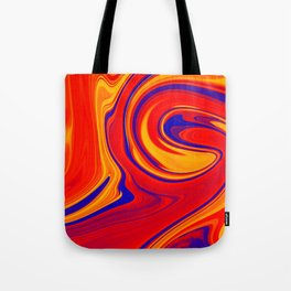 Abstract Bold Colorful Marble Tote Bag