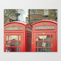 telephone Canvas Prints featuring Telephone by The Last Sparrow