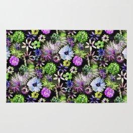 Purple Lime Floral Rug