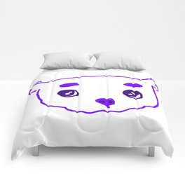 purple puppy Comforters