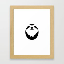 The Majestic Sloth Framed Art Print