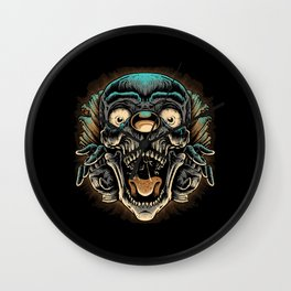 Scary Clown Wall Clock