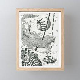 East of Blue Lake Framed Mini Art Print