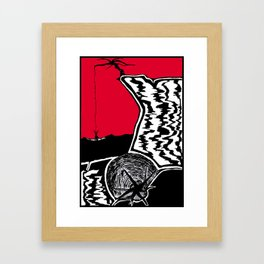 Two Dimensions, Lighter Than The Rope Framed Art Print