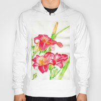 hot pink Hoodies featuring Hot Pink by Kate Havekost Fine Art