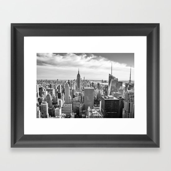 New York City Cityscape (Black and White) by nocolordesigns