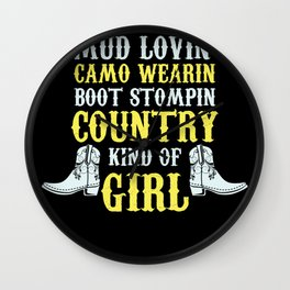 Country Girls Don't Retreat They Reload Wall Clock