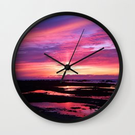 Red Haven Wall Clock