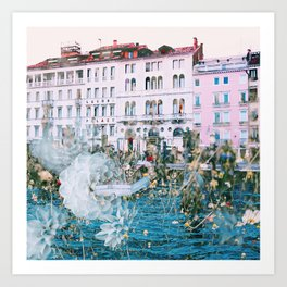 Venice in Dahlia Art Print