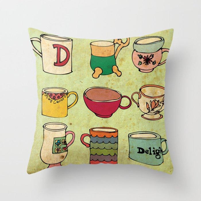 My Mugs! Throw Pillow