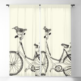 Hand-painted bicycles Blackout Curtain