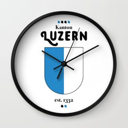 Canton of Luzern Wall Clock