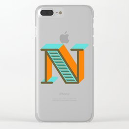 Letter N Clear iPhone Case