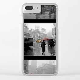 Vintage New York Montage Clear iPhone Case