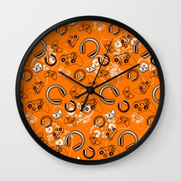 Gamers-Orange Wall Clock