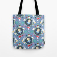 alice wonderland Tote Bags featuring Wonderland by Emily Golden