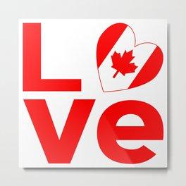 Canadian Red LOVE Metal Print