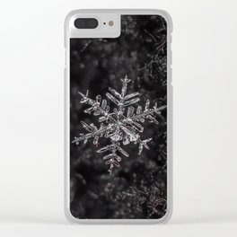 January Snowflake #3 Clear iPhone Case