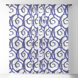 Shibori Curly Sheer Curtain
