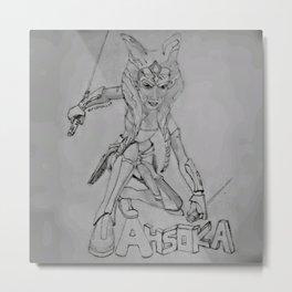 Ahsoka Tano Metal Print