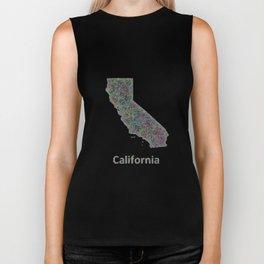 California map Biker Tank