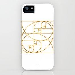 Golden Waves iPhone Case