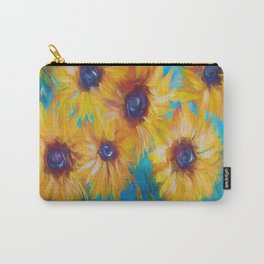 Impressionistic Sunflowers Carry-All Pouch