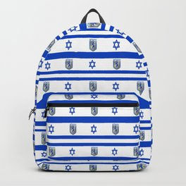 Mix of flag: Israel and Jerusalem Backpack