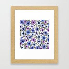 Poppy Purples Framed Art Print