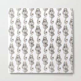 Dark Mark - White Metal Print