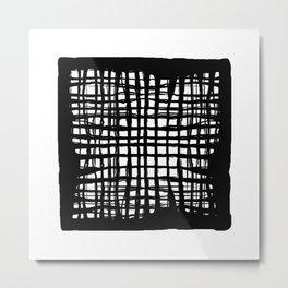 black and white screen Metal Print