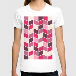 ROSE RETRO HERRINGBONE PATTERN T-shirt