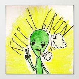 Keep it Green Canvas Print
