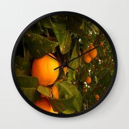 Orange Tree Wall Clock