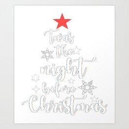 """Christmas"" design Twas The Night Before Tree 3ab Art Print"