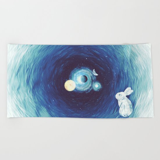 Down The Rabbit Hole Beach Towel