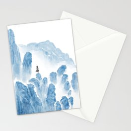 Girl in the mountains Stationery Cards