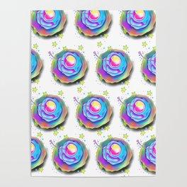 Rainbow Cupcakes Poster