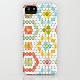 Hexagon Tile Pattern iPhone Case