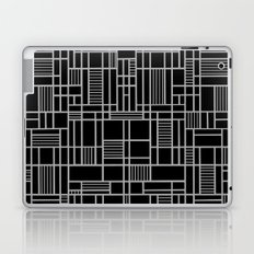 Map Lines Silver Laptop & iPad Skin