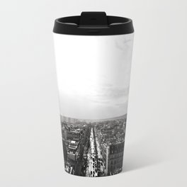Black and White Eiffel Tower Travel Mug