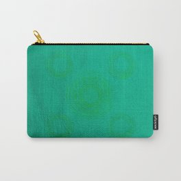 Pata Pattern in Green on Cyan Carry-All Pouch