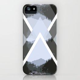Landscape in Triangles iPhone Case