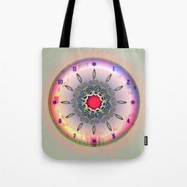 Time - Floral Clock Tote Bag