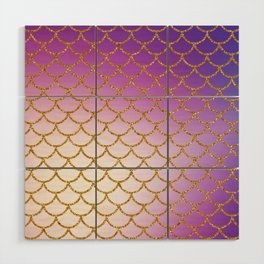 Mermaid Scales Wood Wall Art