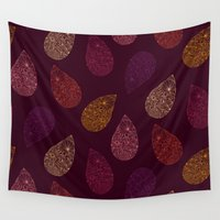 paisley Wall Tapestries featuring Paisley by Vlada Young