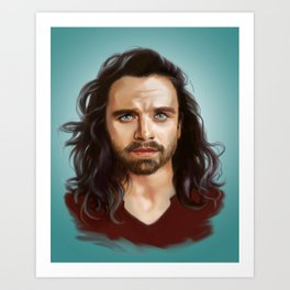 bucky with the good hair Art Print