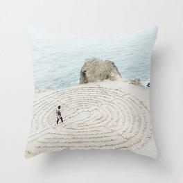 Human Mandala Throw Pillow