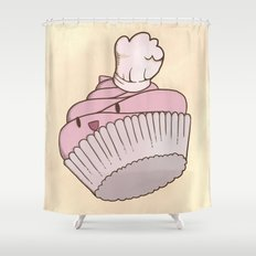 The Cupcake Chef Shower Curtain